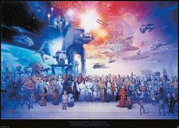 STAR WARS: EPISODE I-VI GALAXY - GIANT XXL MOVIE POSTER