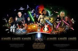 Star Wars The Last Jedi 36x24 Entire Saga Poster characters