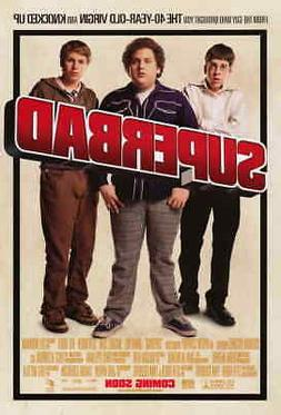 superbad 11x17 movie poster licensed new usa