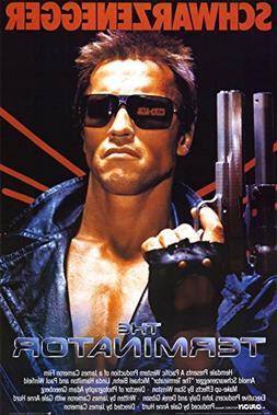 Terminator Movie Arnold Schwarzenegger with Gun 80s Poster