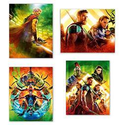 Thor Ragnarok  Poster Prints - Set of Four Marvel Thor and H