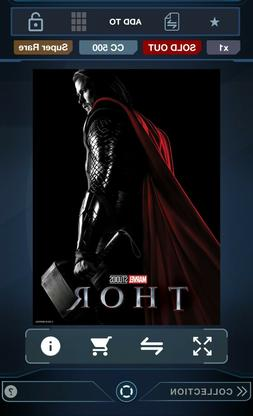 Topps Marvel Collect Thor Movie Poster DIGITAL CARD Super Ra