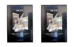 Value Pack Two 27x40 Movie Poster Frames with Black Edges As
