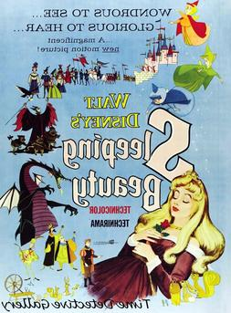 Vintage Disney Sleeping Beauty Movie Poster - Available in 5