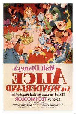 Walt Disney's Alice in Wonderland MOVIE POSTER 1951 24X36 VI