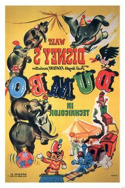 Walt Disney's Dumbo MOVIE POSTER 1941 24X36 VINTAGE CARTOON