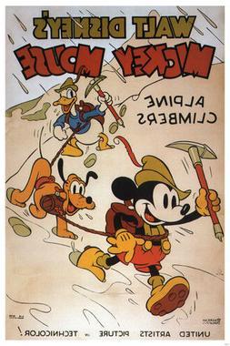 Walt Disney Mickey Mouse Alpine climbers MOVIE POSTER 1936 2